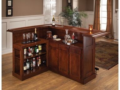 Hillsdale Furniture Classic Large Cherry Bar with Side Bar 62578AXCHE