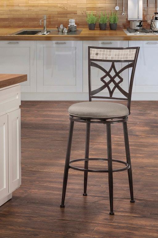 Wondrous Indoor Outdoor Halstead Swivel Counter Stool Theyellowbook Wood Chair Design Ideas Theyellowbookinfo