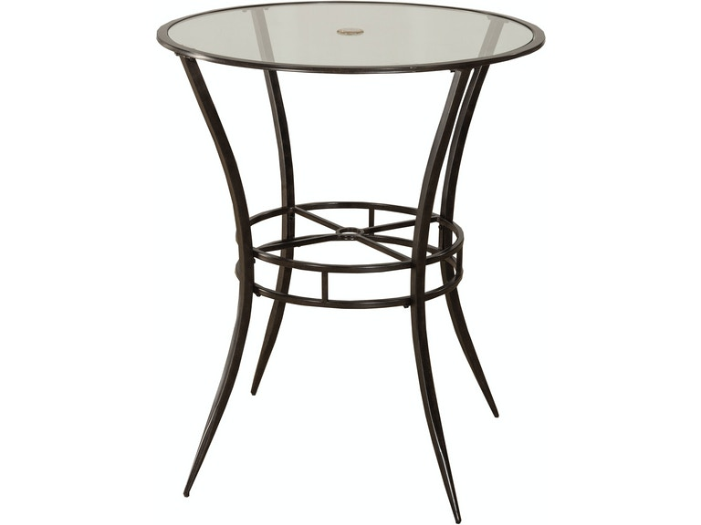 Hillsdale Furniture Indoor/Outdoor Bar Height Bistro Table 6323PTB - Hillsdale Furniture Outdoor/Patio Indoor/Outdoor Bar Height Bistro