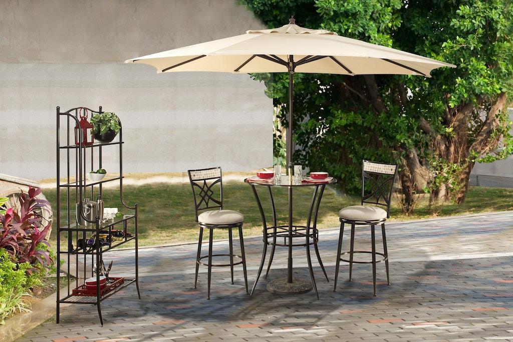 Hillsdale Furniture Outdoor Patio Indoor Outdoor Bar Height Bistro