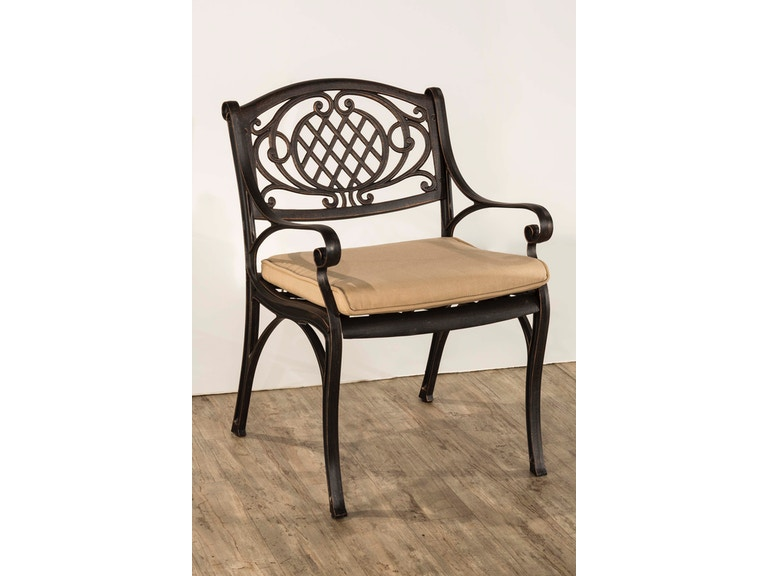 Hillsdale Furniture Outdoor Esterton Arm Chair - Set of 2 - Cushion  Included 6324-802 - Hillsdale Furniture Outdoor/Patio Outdoor Esterton Arm Chair - Set