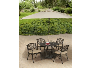 Hillsdale Furniture Outdoor Esterton 5-Piece Round Dining Set 6324ODS
