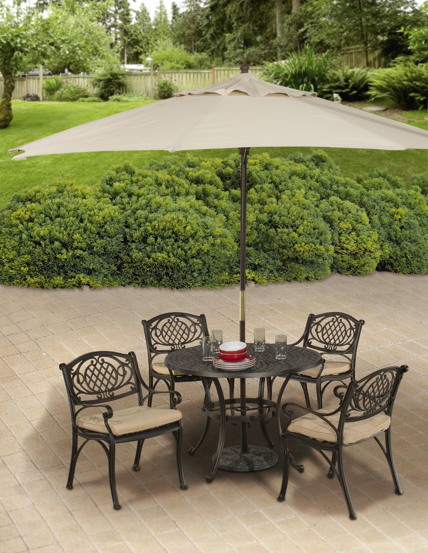 Hillsdale Furniture Outdoor Esterton 5 Piece Round Dining Set 6324ODS