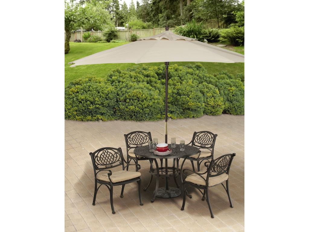 Hillsdale Furniture Outdoor Patio Outdoor Esterton 5 Piece Round Dining Set 6324ods Winner