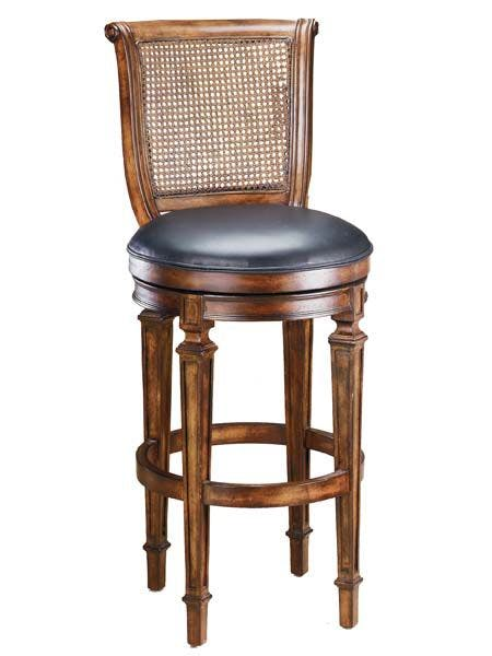 Hillsdale Furniture Bar And Game Room Dalton Cane Back Counter Stool With Leather Seat 61908