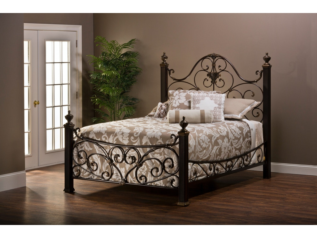 hillsdale furniture bedroom mikelson bed set king with rails 1648bkr seaside furniture
