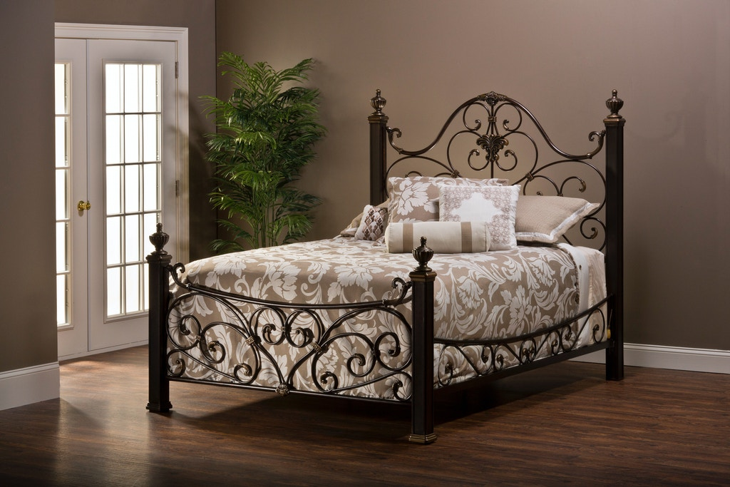 a0ed06ac55a5 Hillsdale Furniture Mikelson Bed Set - Queen - with Rails 1648BQR, Mikelson  Bed Post (