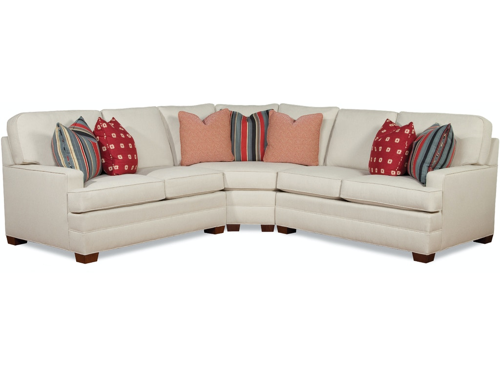 Huntington House Living Room Sectional 2061 Sect Hickory