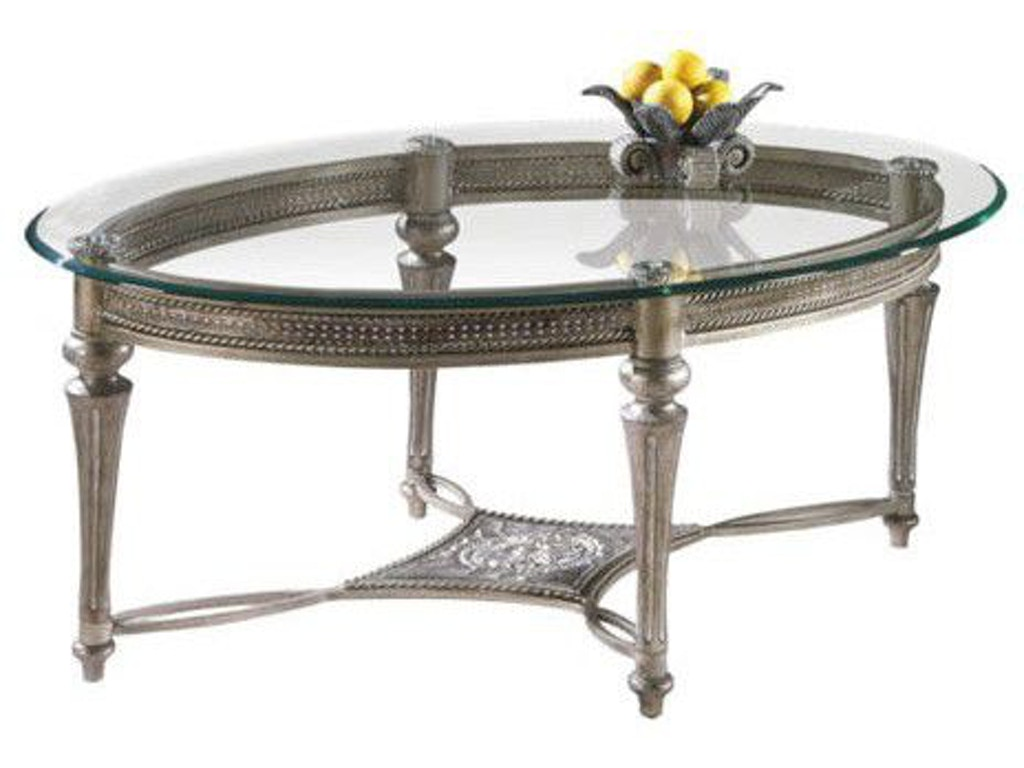 Magnussen Home Living Room Oval Cocktail Table 37526