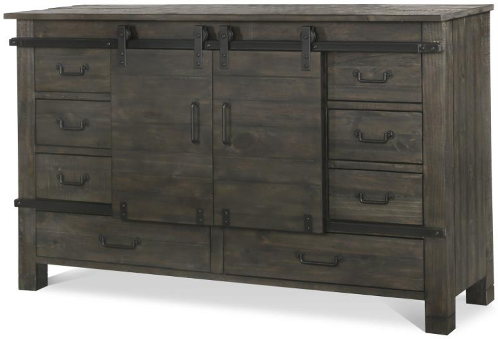 Magnussen Home Bedroom Sliding Door Dresser B3804 24 Pamaro Shop Furniture Sarasota And