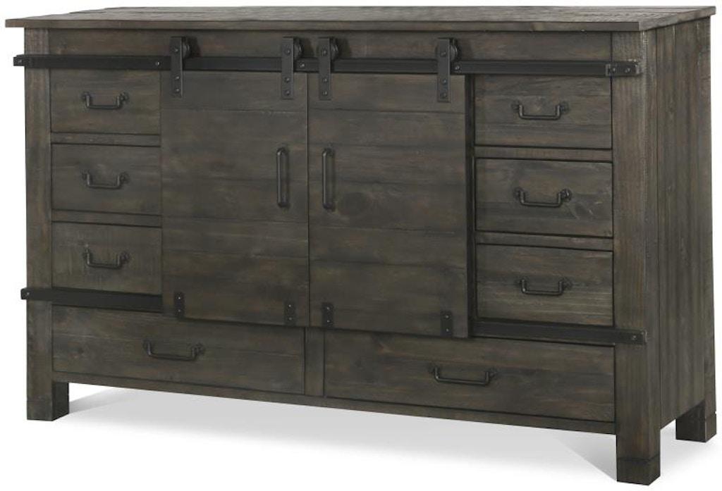 Magnussen Home Bedroom Sliding Door Dresser B3804 24 Carol House Furniture Maryland Heights