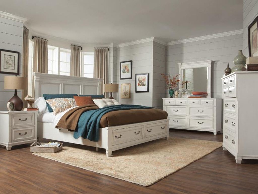 Magnussen Home Bedroom Complete Queen Panel Storage Bed B4056 55 China Towne Furniture
