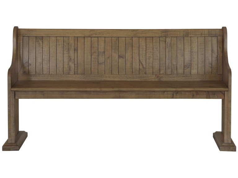 Astounding Magnussen Home Dining Room Bench With Back Wood Bench Gmtry Best Dining Table And Chair Ideas Images Gmtryco