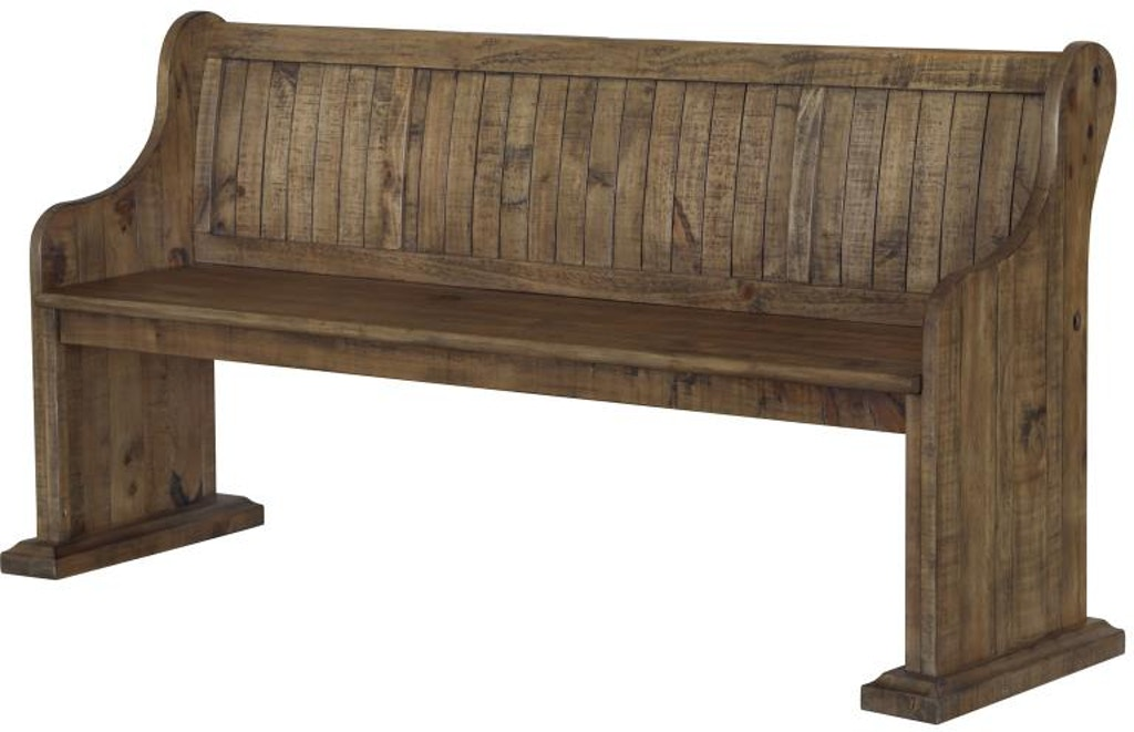 Cool Magnussen Home Dining Room Bench With Back Wood Bench Gmtry Best Dining Table And Chair Ideas Images Gmtryco