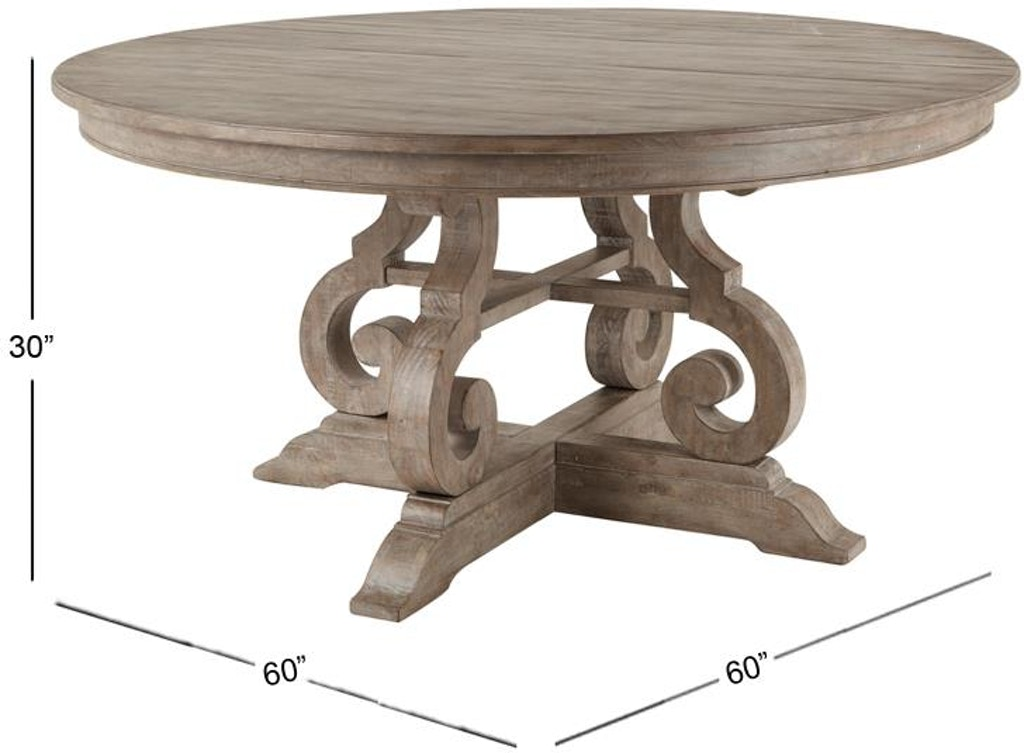 Wood 60 Round Dining Table Top Su Mgnd464623t