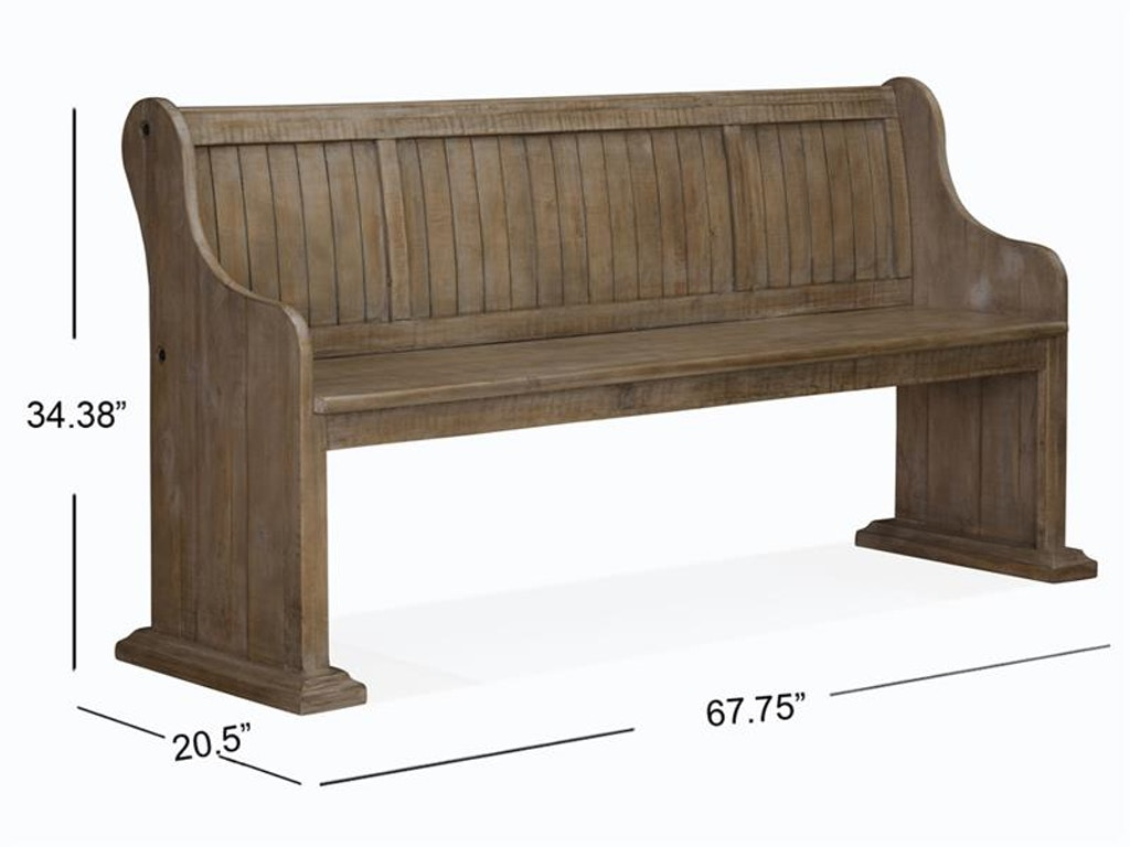 Magnussen Home Dining Room Bench With Back D4646 79 Carol House Furniture Maryland Heights