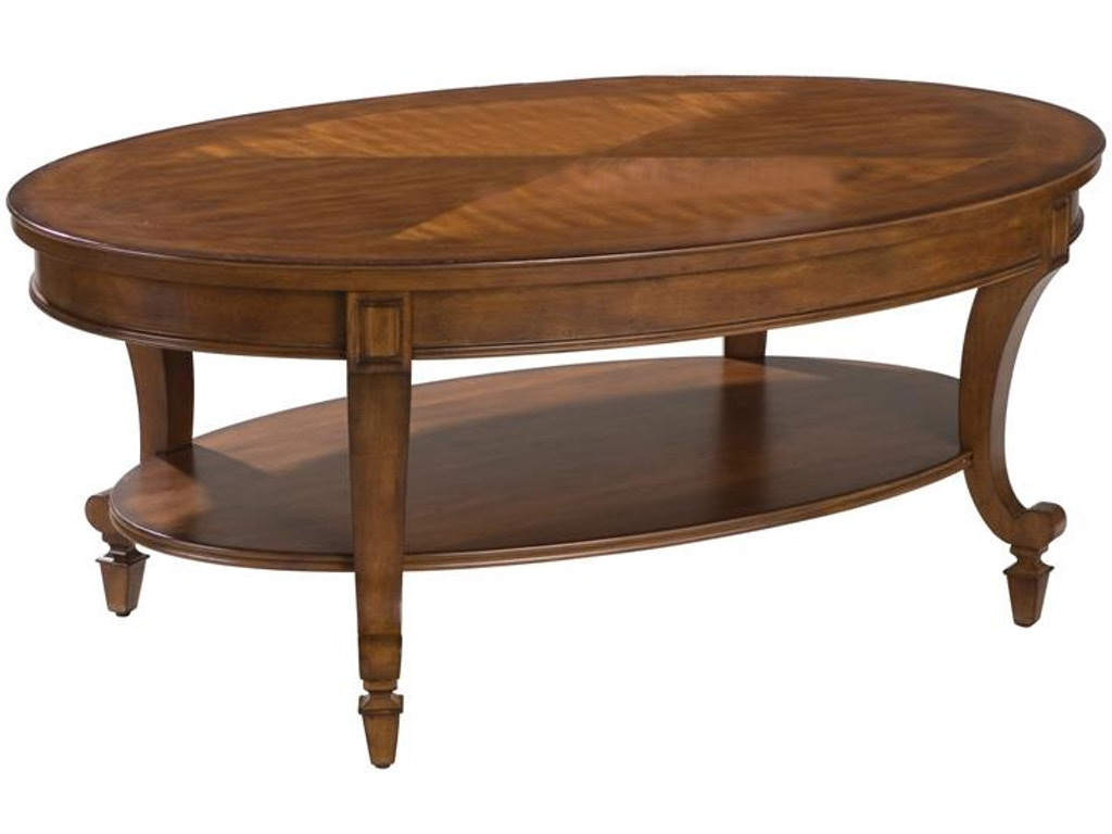 Magnussen home living room oval cocktail table t1052 47 for Cocktail table 47