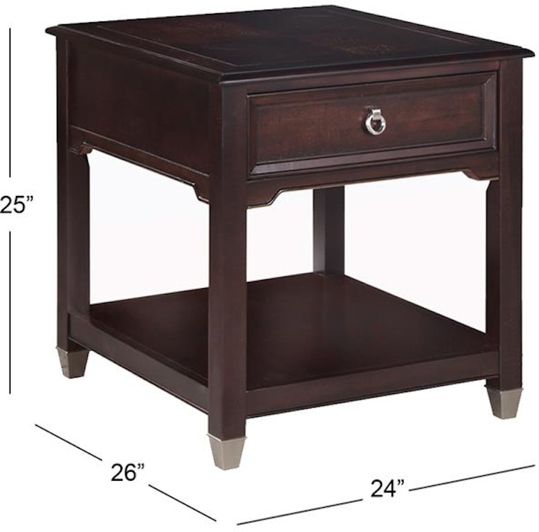 Lift Top Coffee Table Ottawa: Magnussen Home Living Room Rectangular End Table T1124-03