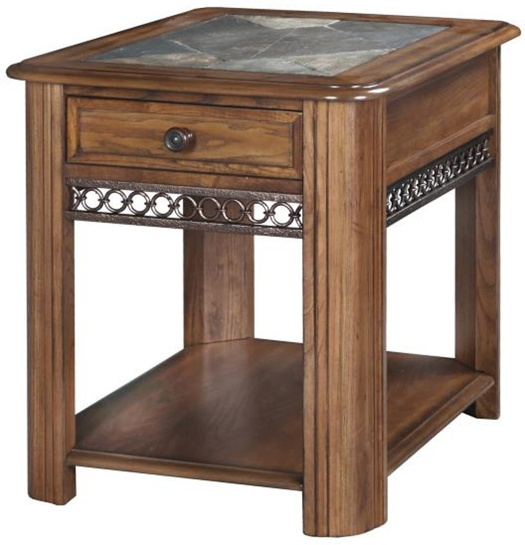 Magnussen Home Living Room Rectangular Drawer End Table