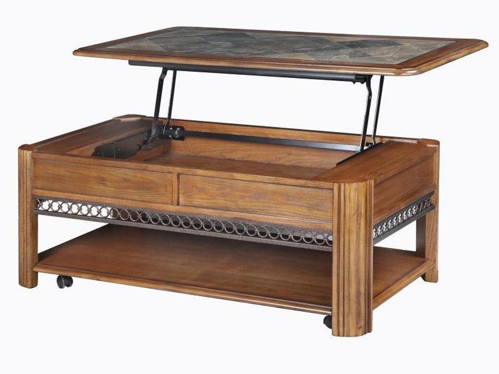 Magnussen Home Rectangular Lift Top Tail Table With Casters Mgnt112550 From Walter E Smithe Furniture