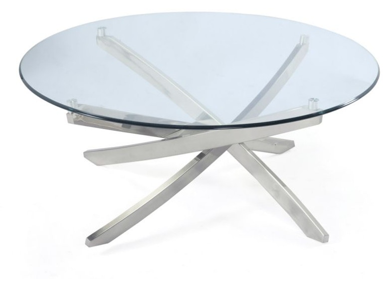 Magnussen Home Brushed Nickel Round Tail Table Base Kd T2050 45b