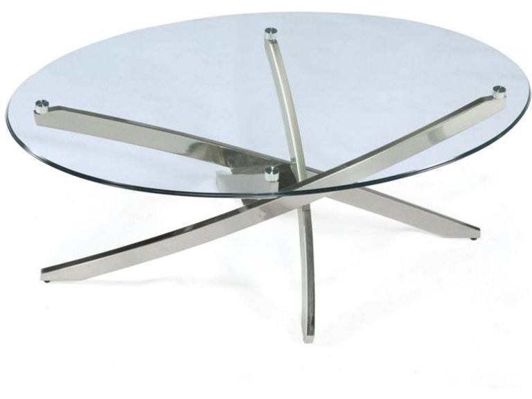 Magnussen Home Brushed Nickel Oval Tail Table Base Kd T2050 47b