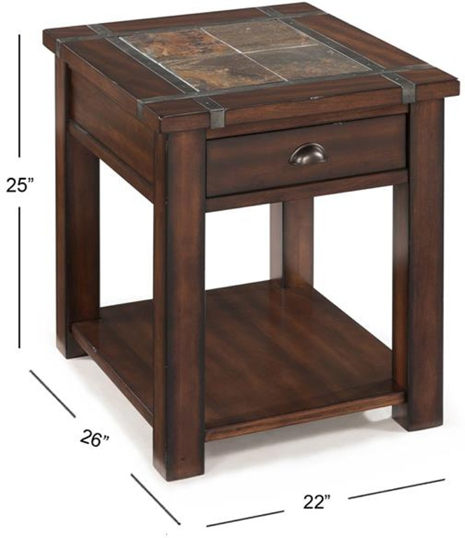 Lift Top Coffee Table Ottawa: Magnussen Home Living Room Rectangular End Table T2615-03