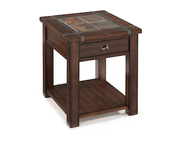 Magnussen Home Rectangular End Table T2615-03
