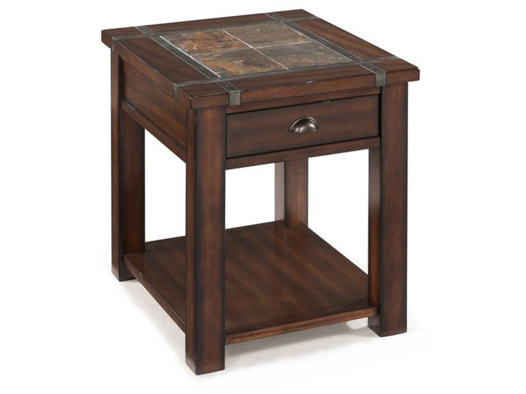 Magnussen Home Living Room Rectangular End Table T2615 03