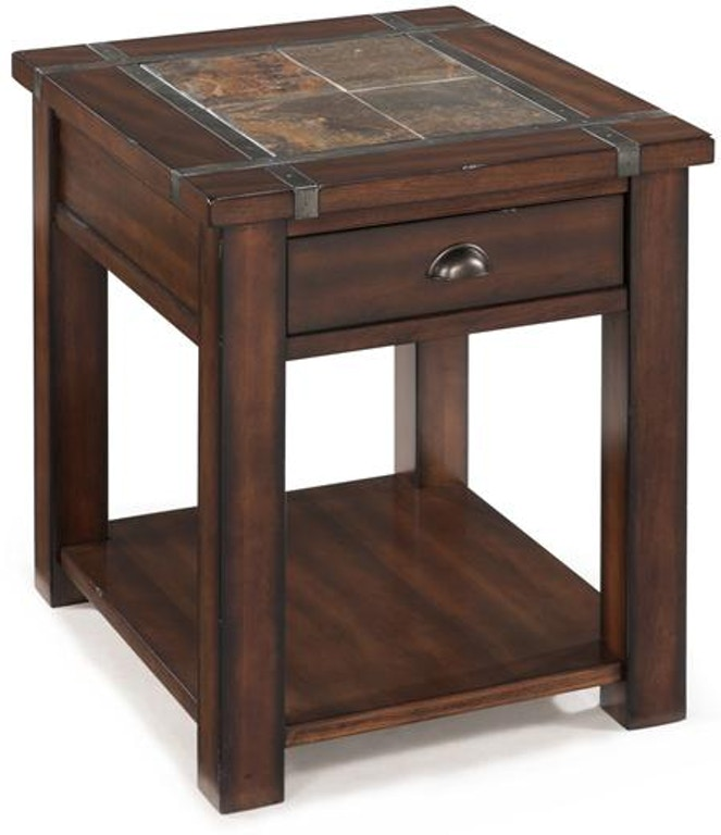 Magnussen Home Living Room Rectangular End Table T2615-03
