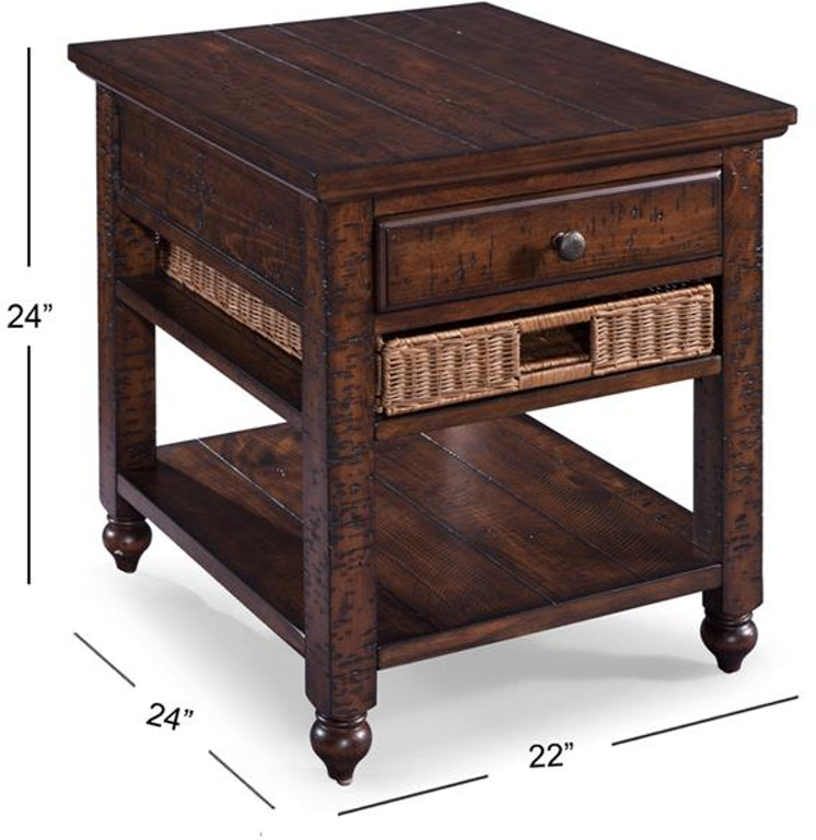 Magnussen Home Living Room Rectangular End Table T3521-03