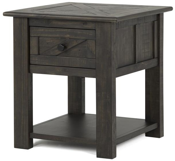 Magnussen Home Living Room Rectangular End Table T3778 03