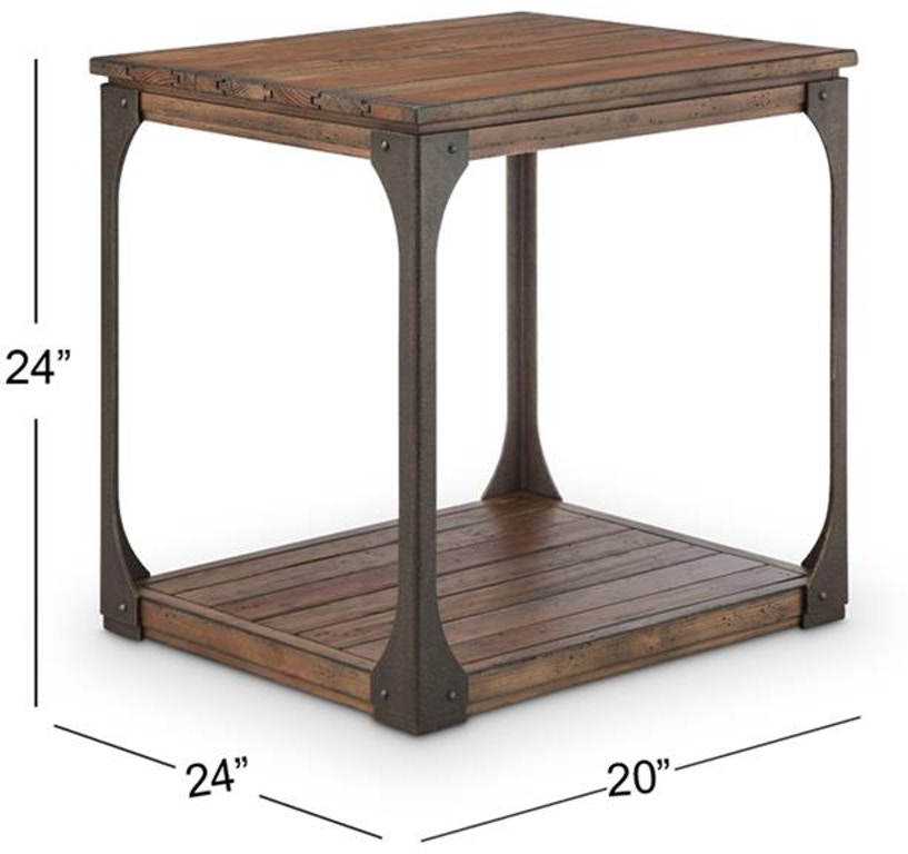 Magnussen Home Living Room Rectangular End Table T4112-03