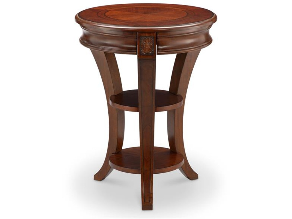 Magnussen home living room round accent table t4115 35 for Furniture 35
