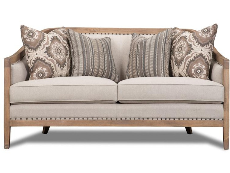 Magnussen Home Living Room Taupe Settee U3431 80 072 Howell Furniture Beaumont And Nederland