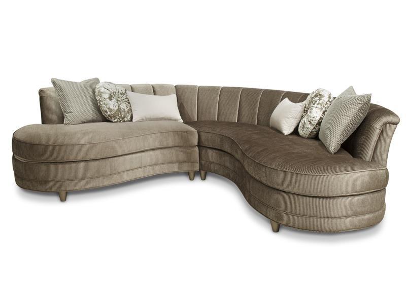 Magnussen Home Taupe Sofa 2 Pcs Sectional U4066 01 072