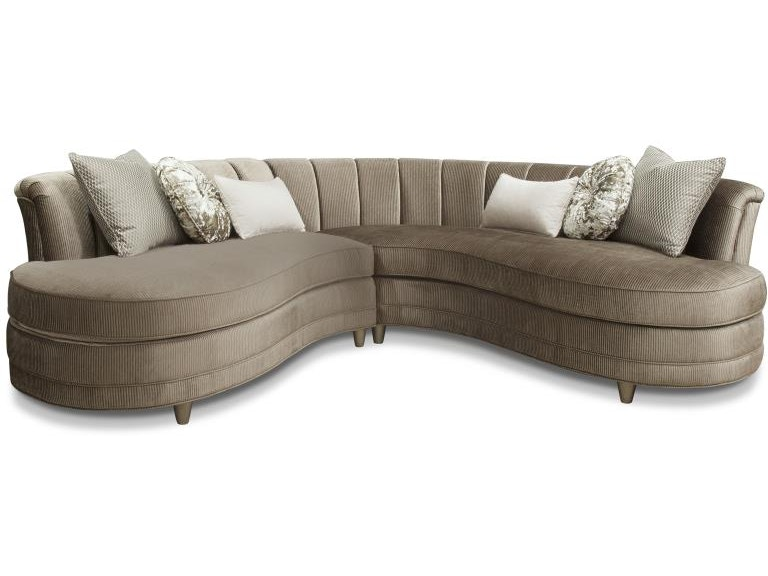 Swell Magnussen Home Living Room Taupe Sofa 2 Pcs Sectional U4066 Machost Co Dining Chair Design Ideas Machostcouk