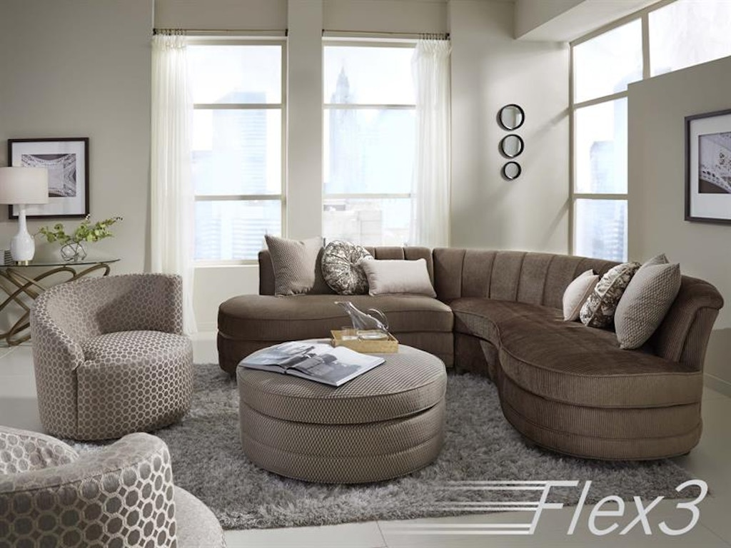 Magnussen Home Living Room Taupe Sofa 2 Pcs Sectional
