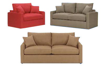 Overnight Sofa Twin Sleeper 4433FABRICS/FINISHES/PIECES SHOWN IN  PHOTOGRAPHY, MAY NOT BE