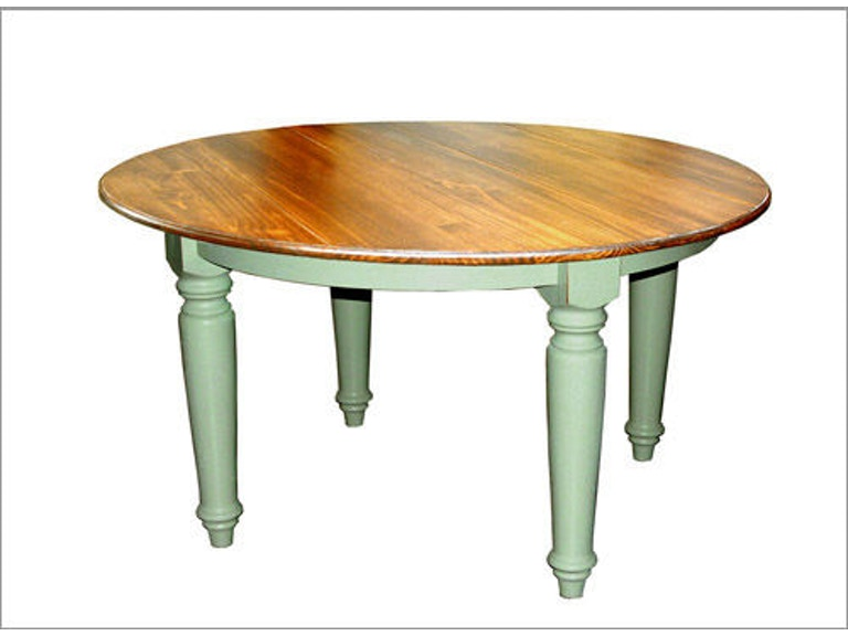 Southern Craftsmen S Guild Dining Room 54 Round Plank Top Farmhouse Table With Turned Legs 3481 Michael Anthony And Suffern Furniture Gallery Union