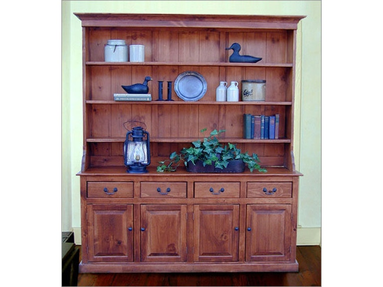 Southern Craftsmens Guild Carolina Colonial Hutch W Dover Top 3702DT