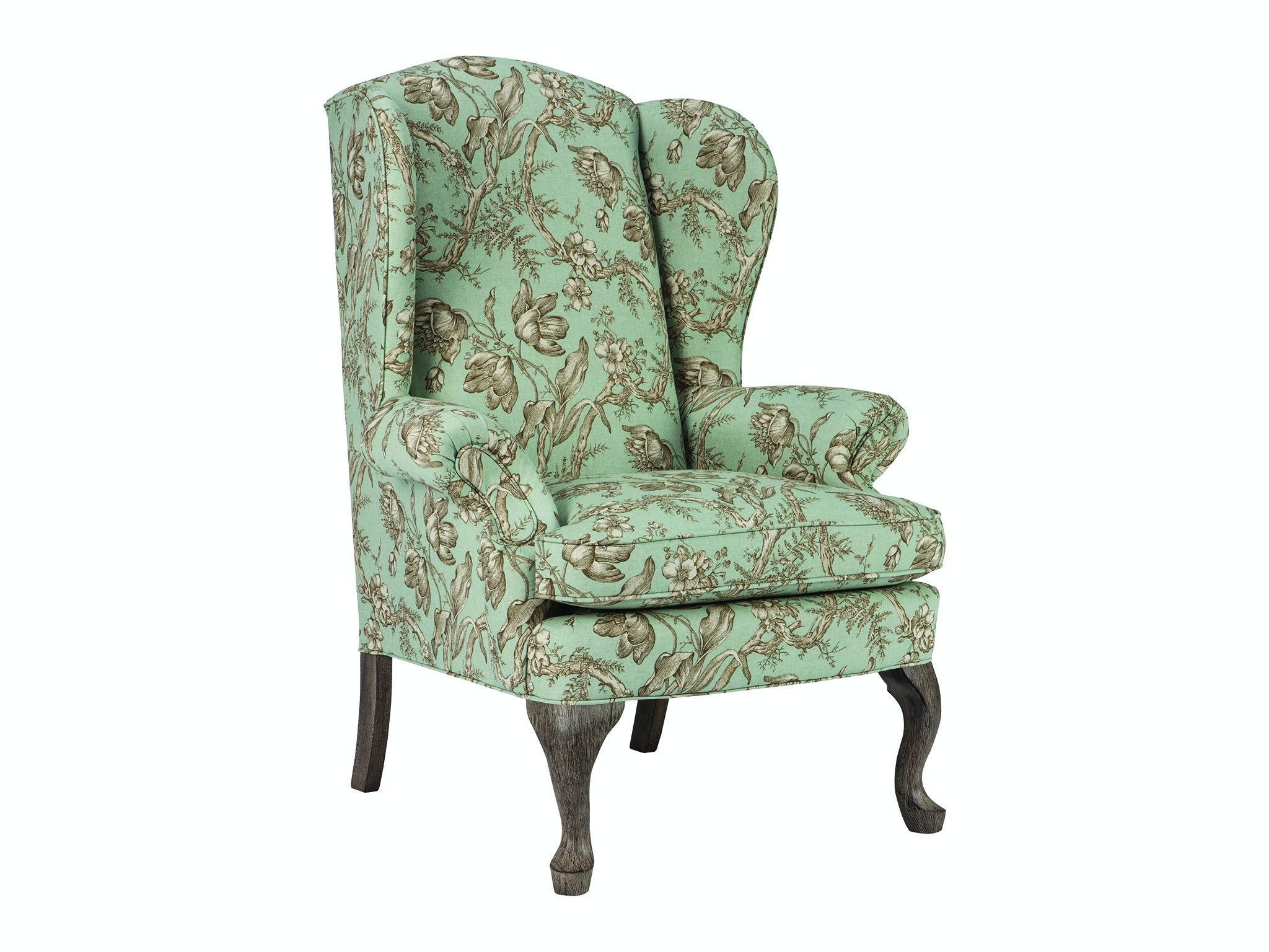 Wonderful Best Home Furnishings Living Room Queen Anne Wing Chair 0710DC  GX19
