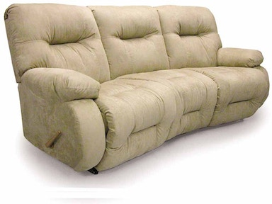 Best Home Furnishings Curved Motion Sofa 565751 Custom
