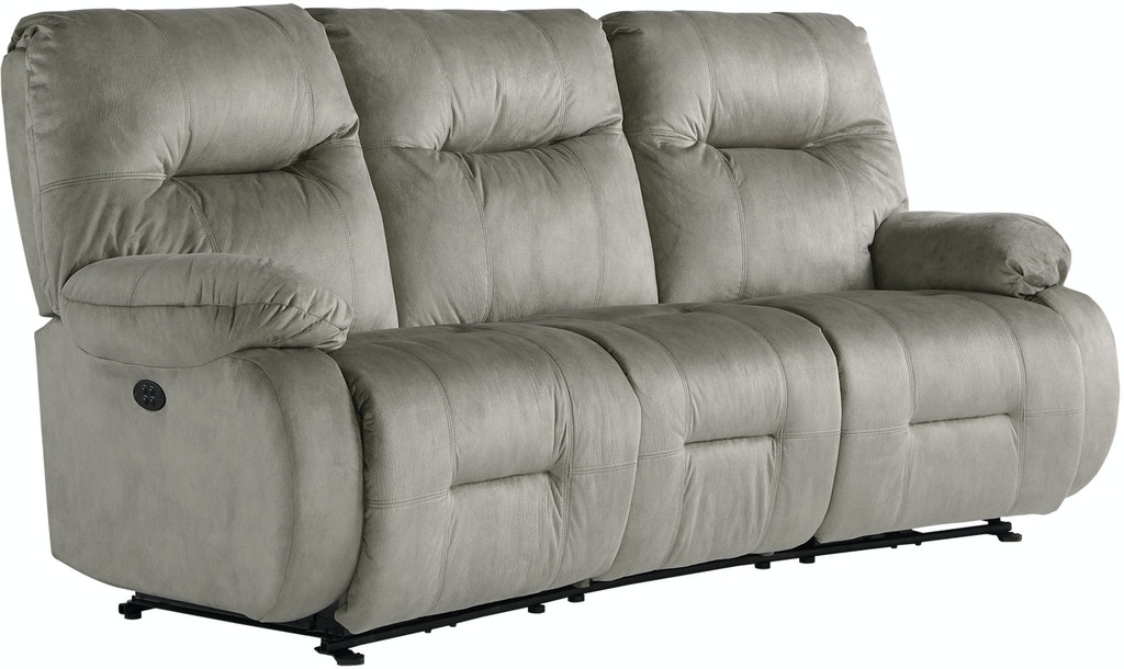 Best Home Furnishings Living Room Power Curved Motion Sofa