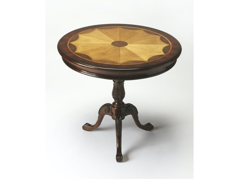 Butler Specialty Company Living Room Round Pedestal Table 0533024 At Cherry House Furniture