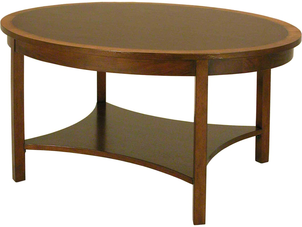 Accents Beyond Living Room Oval Cocktail Table 1421 Cherry House Furniture La Grange And