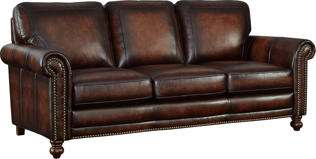 Leather Italia Living Room Hampton Sofa 1703-7160-03L501M ...