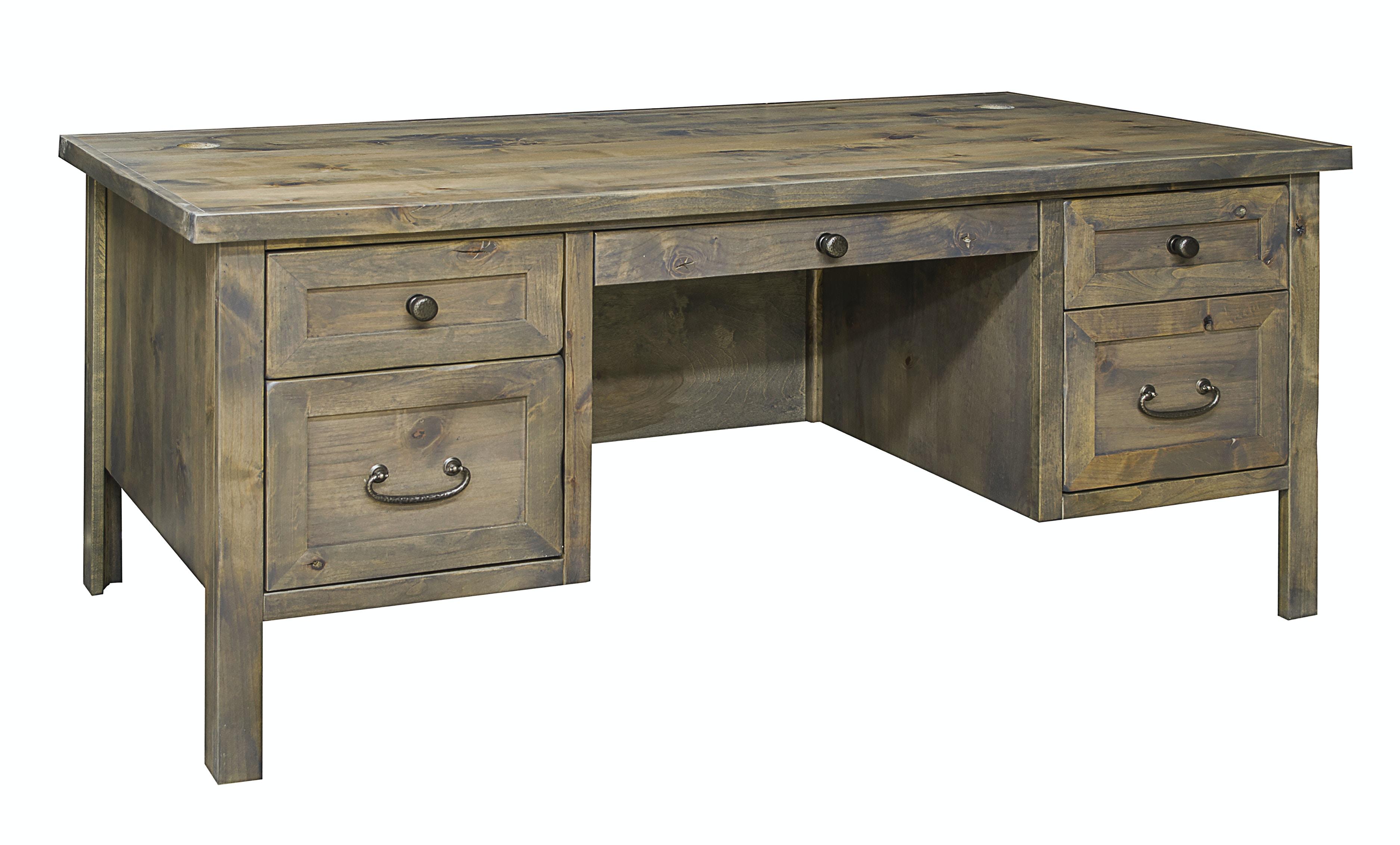 Genial Legends Furniture Joshua Creek Executive Desk JC6270.BNW