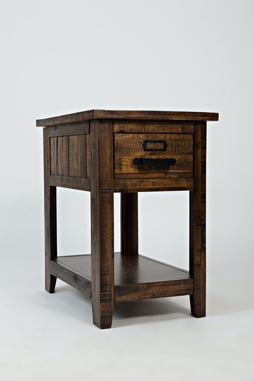 Chairside Table Drawer And Shelf