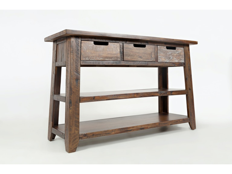 Jofran Living Room Sofa Table With 3 Drawers 2 Shelves 1600 4